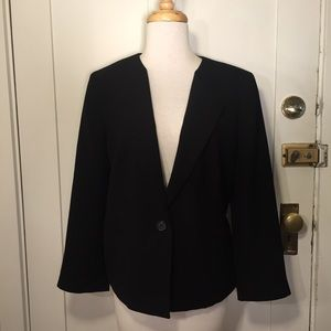 Ann Taylor black classic single button blazer